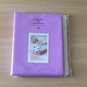 Light Purple photo book album for instax size pics